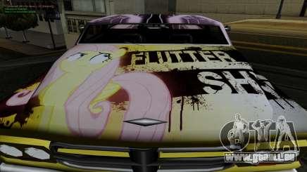 Travaux de peinture pour Slamvan MLP Fluttershy pour GTA San Andreas