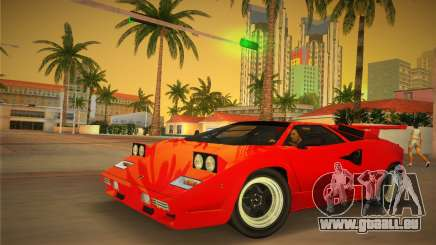 Lamborghini Countach LP5000 QV TT Custom pour GTA Vice City