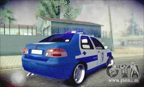 Fiat Albea Police Turkish pour GTA San Andreas vue de droite