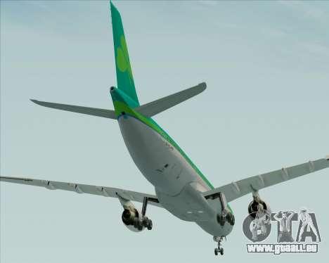 Airbus A330-300 Aer Lingus für GTA San Andreas Unteransicht