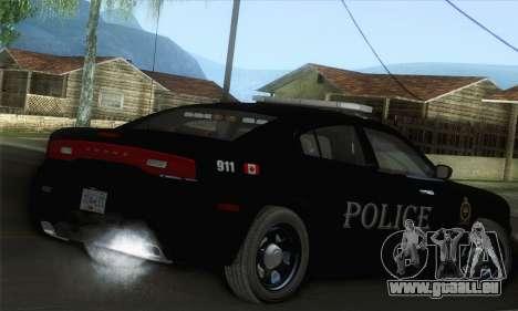 Dodge Charger ViPD 2012 pour GTA San Andreas laissé vue