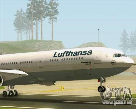 Airbus A340-313 Lufthansa für GTA San Andreas obere Ansicht