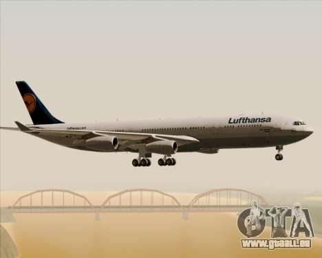 Airbus A340-313 Lufthansa für GTA San Andreas Unteransicht