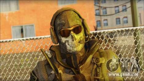 Latino Resurrection Skin from COD 5 für GTA San Andreas dritten Screenshot