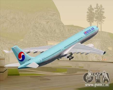Airbus A330-300 Korean Air für GTA San Andreas Räder