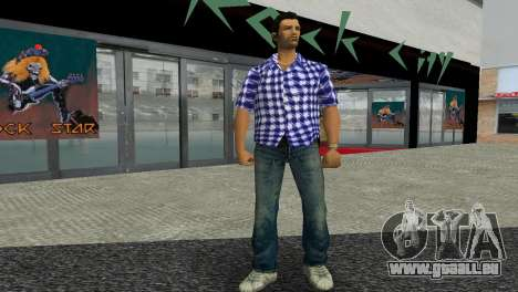Kockas polo - sotetkek T-Shirt für GTA Vice City zweiten Screenshot