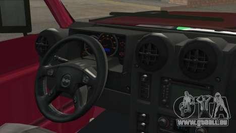 Nissan Patrol 2 Door pour GTA San Andreas sur la vue arrière gauche