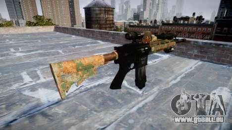 Automatische Gewehr Colt M4A1 Dschungel für GTA 4 Sekunden Bildschirm