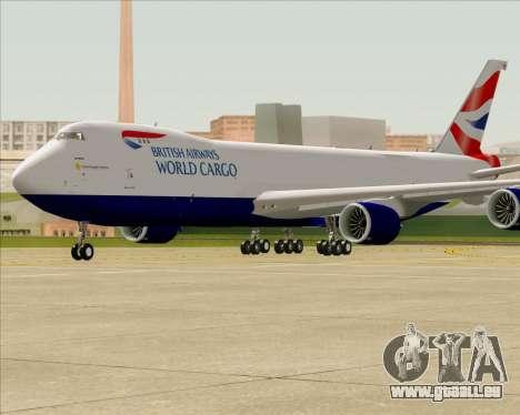 Boeing 747-8 Cargo British Airways World Cargo pour GTA San Andreas vue intérieure