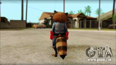 Guardians of the Galaxy Rocket Raccoon v1 für GTA San Andreas zweiten Screenshot