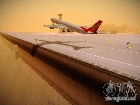 Airbus A340-600 Hainan Airlines für GTA San Andreas zurück linke Ansicht
