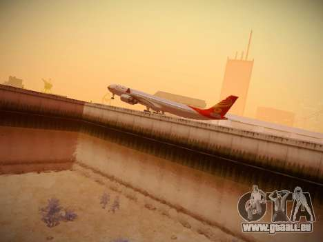 Airbus A340-600 Hainan Airlines für GTA San Andreas obere Ansicht