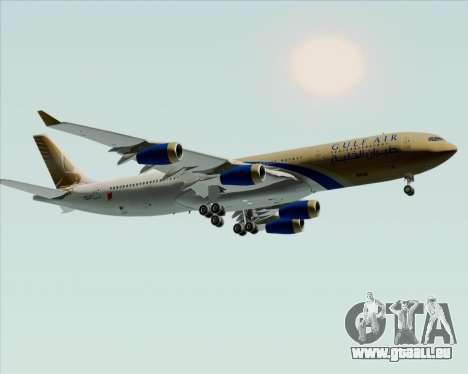 Airbus A340-313 Gulf Air pour GTA San Andreas vue intérieure