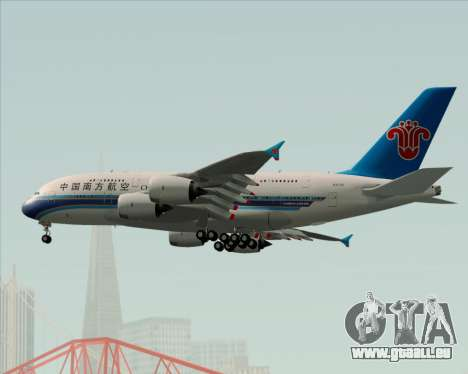Airbus A380-841 China Southern Airlines für GTA San Andreas obere Ansicht