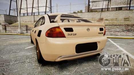 Mazda 323f 1998 pour GTA 4 Vue arrière de la gauche