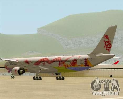 Airbus A330-300 Dragonair (20th Year Livery) pour GTA San Andreas sur la vue arrière gauche
