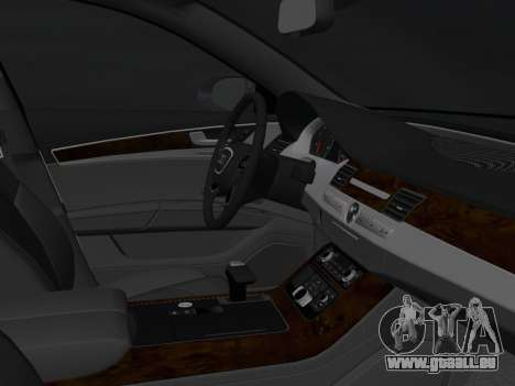 Audi A8 2010 W12 Rim3 für GTA Vice City Innenansicht