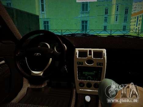 Lada Priora Coupe pour GTA San Andreas vue arrière