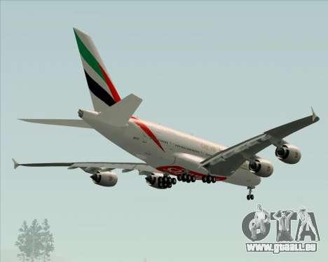 Airbus A380-841 Emirates für GTA San Andreas Räder