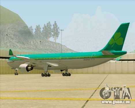 Airbus A330-300 Aer Lingus für GTA San Andreas zurück linke Ansicht