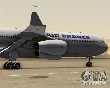 Airbus A340-313 Air France (Old Livery) pour GTA San Andreas vue arrière