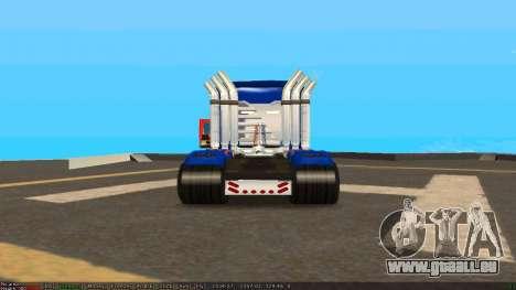Peterbilt 379 Optimus Prime pour GTA San Andreas vue de droite