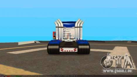 Peterbilt 379 Optimus Prime für GTA San Andreas rechten Ansicht