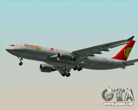 Airbus A330-200 Air China pour GTA San Andreas vue intérieure