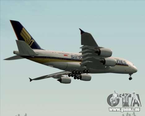 Airbus A380-841 Singapore Airlines für GTA San Andreas Innenansicht