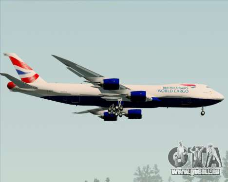 Boeing 747-8 Cargo British Airways World Cargo für GTA San Andreas Rückansicht