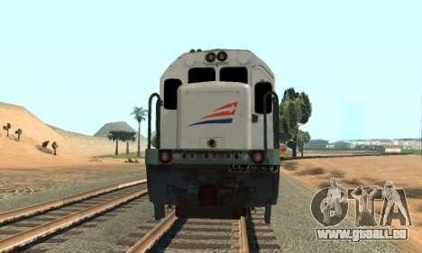 GE U18C CC 201 Indonesian Locomotive pour GTA San Andreas sur la vue arrière gauche