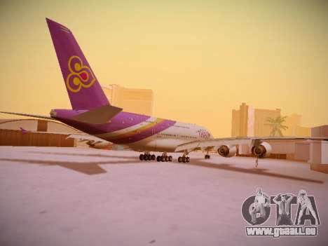 Airbus A380-800 Thai Airways International pour GTA San Andreas vue de droite