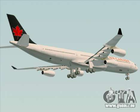 Airbus A340-313 Air Canada für GTA San Andreas Innenansicht