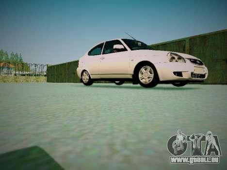 Lada Priora Coupe pour GTA San Andreas vue intérieure
