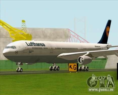 Airbus A340-313 Lufthansa für GTA San Andreas linke Ansicht