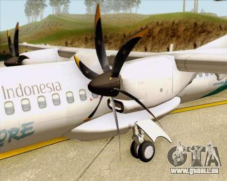 ATR 72-500 Garuda Indonesia Explore pour GTA San Andreas vue de côté