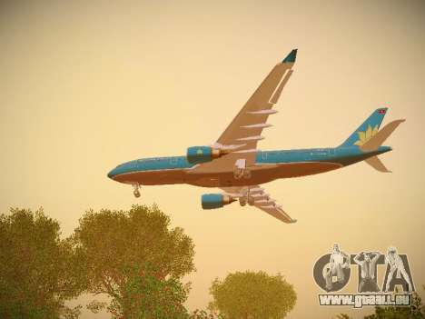 Airbus A330-200 Vietnam Airlines pour GTA San Andreas moteur