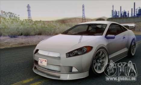 Maibatsu Penumbra 1.0 (IVF) pour GTA San Andreas sur la vue arrière gauche