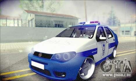 Fiat Albea Police Turkish für GTA San Andreas Rückansicht