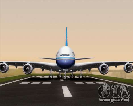 Airbus A380-841 China Southern Airlines für GTA San Andreas Seitenansicht