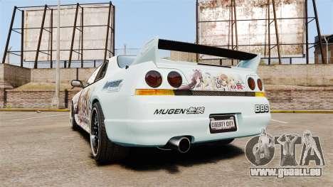 Nissan Skyline R33 1995 Infinite Stratos für GTA 4 hinten links Ansicht