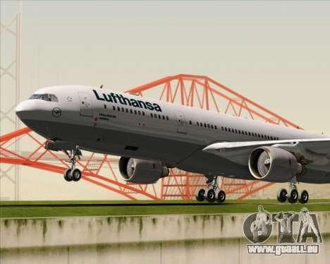 Airbus A330-300 Lufthansa für GTA San Andreas obere Ansicht