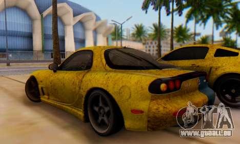 Mazda RX-7 UA PJ für GTA San Andreas zurück linke Ansicht