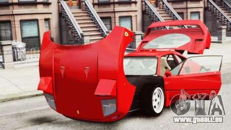 Ferrari F40 1987 pour GTA 4 Vue arrière