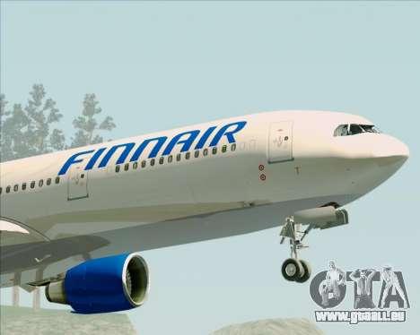 Airbus A330-300 Finnair (Old Livery) pour GTA San Andreas vue de côté