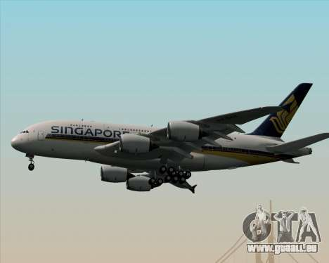 Airbus A380-841 Singapore Airlines für GTA San Andreas Seitenansicht