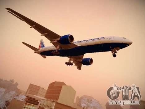 Boeing 777-212ER Transaero Airlines für GTA San Andreas rechten Ansicht