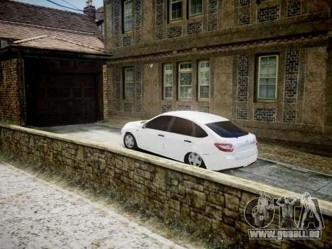 Lada Granta Liftback pour GTA 4 Vue arrière de la gauche