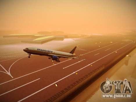Boeing 777-212ER Transaero Airlines pour GTA San Andreas vue de dessus