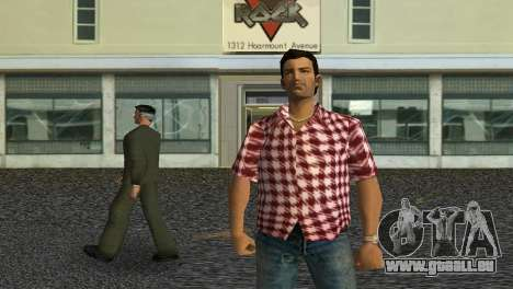 Kockas polo - piros T-Shirt für GTA Vice City dritte Screenshot